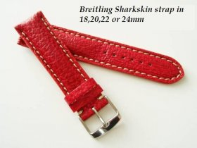 Breitling SHarkskin strap in Red, buckle