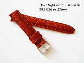 IWC leather strap in light brown Alligator grain