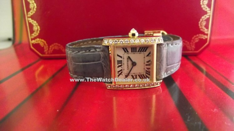 Cartier Francaise 18k/Diamond set Ladies
