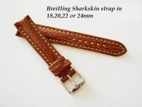 Breitling Sharkskin strap in Honey, buckle