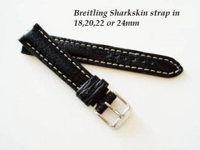 Breitling Sharkskin strap in Black, buckle