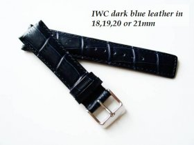 IWC Leather strap in Dark Blue Alligator grain