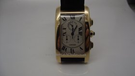 Cartier Tank Francaise Chronflex in 18k