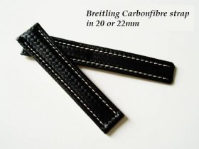 Breitling Carbonfibre strap for deployant buckle