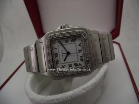 Cartier Santos diamond set