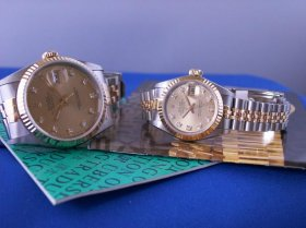Rolex Datejusts , 16233 and 69173 matching pair!**SOLD**