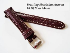 Breitling Sharkskin strap in Claret, buckle